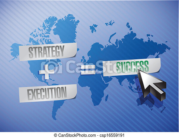 strategy, execution and success illustration - csp16559191