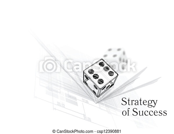 Strategy for success - csp12390881