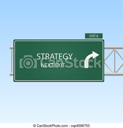 """""""strategy"""", image, ciel, signe, arrière-plan., sortie, autoroute - csp4596753"""
