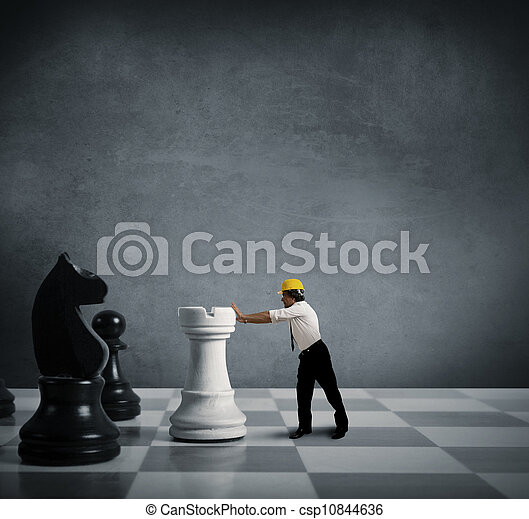 Strategy in business - csp10844636