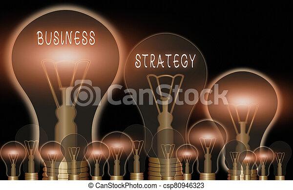strategy., plan, foto, señal, dirección, lograr, o, meta, juego, desired, texto, actuación, empresa / negocio, conceptual, objective. - csp80946323