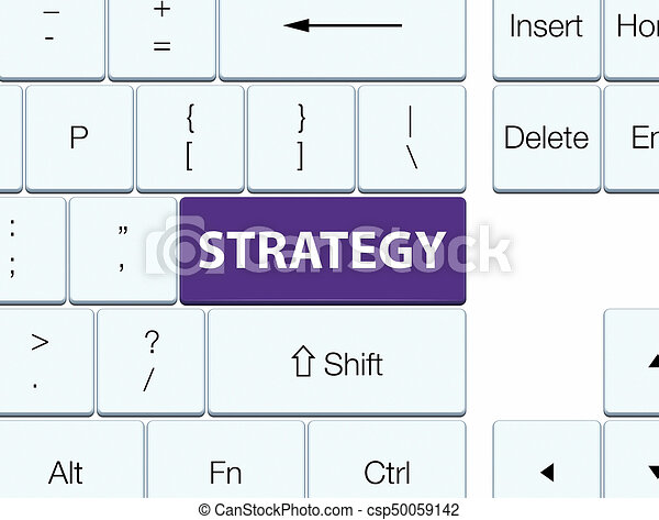 Strategy purple keyboard button - csp50059142