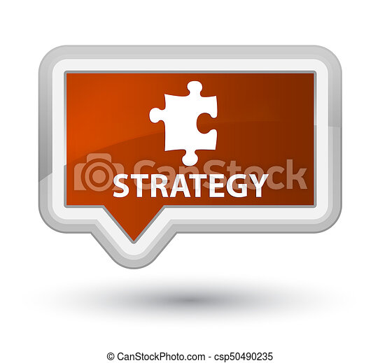 Strategy (puzzle icon) prime brown banner button - csp50490235