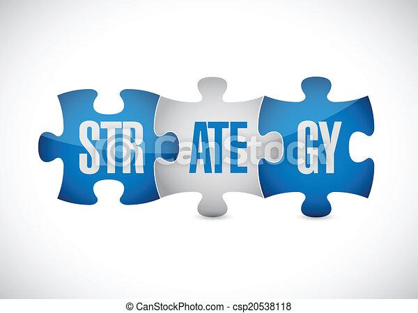 strategy puzzle pieces illustration design - csp20538118