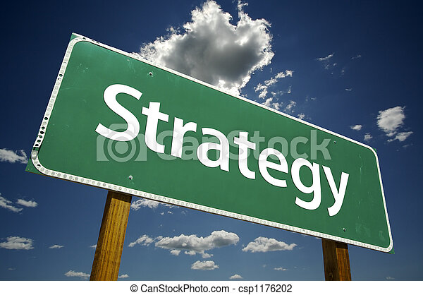 Strategy Road Sign - csp1176202
