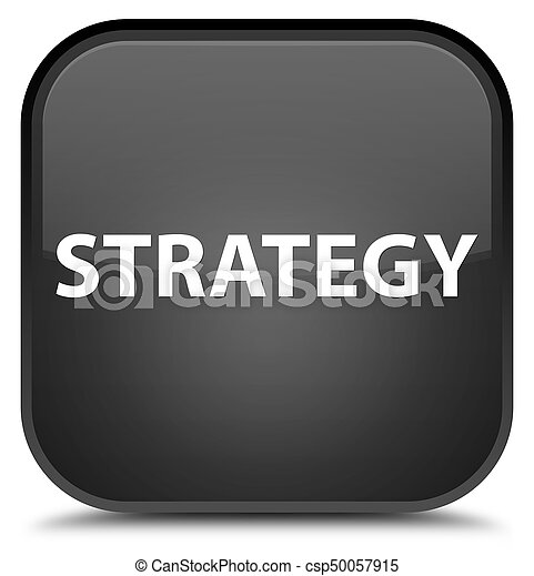 Strategy special black square button - csp50057915