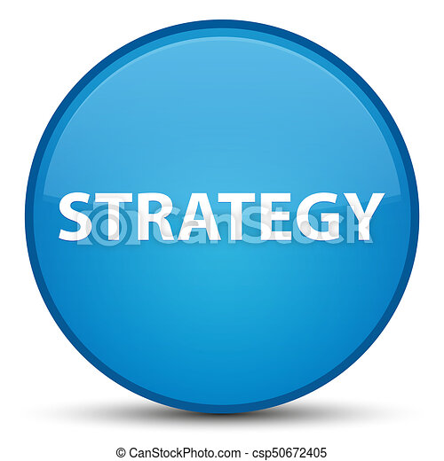 Strategy special cyan blue round button - csp50672405