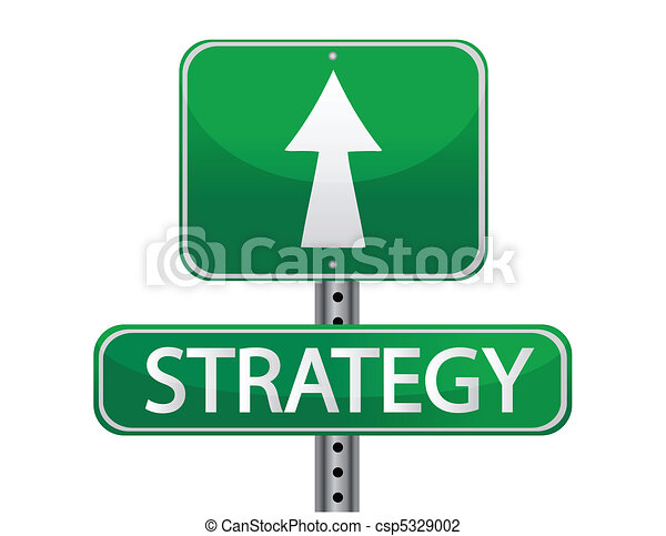 Strategy street sign concept - csp5329002