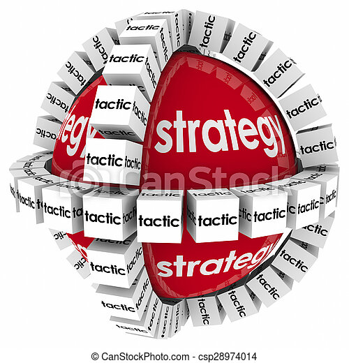Strategy Tactics Process System Procedure Achive Mission Goal Success - csp28974014