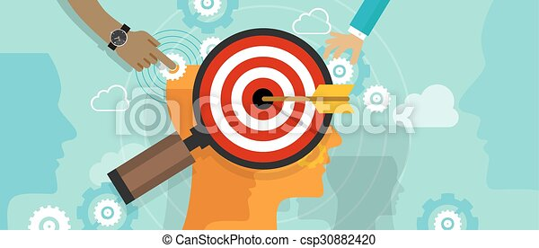 strategy target positioning in consumer customer mind marketing market concept position human head chess - csp30882420