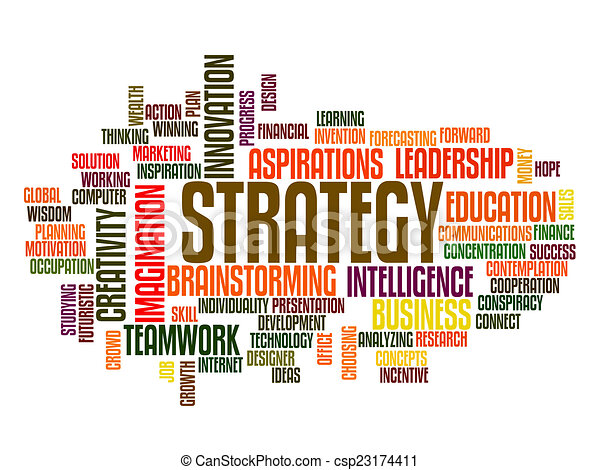 Strategy word cloud - csp23174411
