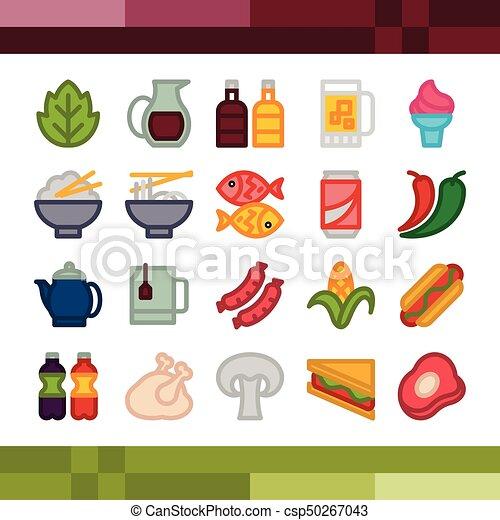 strava, dát, nápoj, ikona - csp50267043