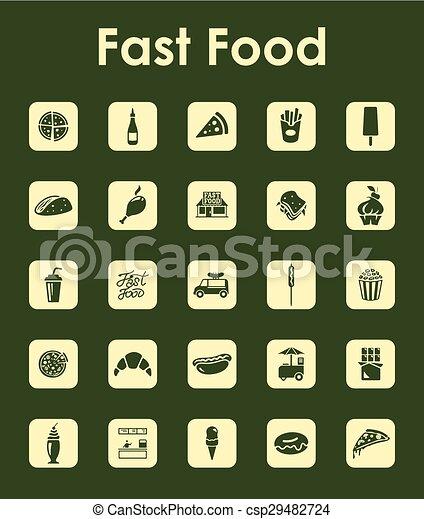 strava, jednoduchý, dát, pevně, ikona - csp29482724