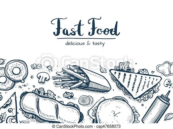 strava, snack, grafické pozadí, vybírání, pevně - csp47658073
