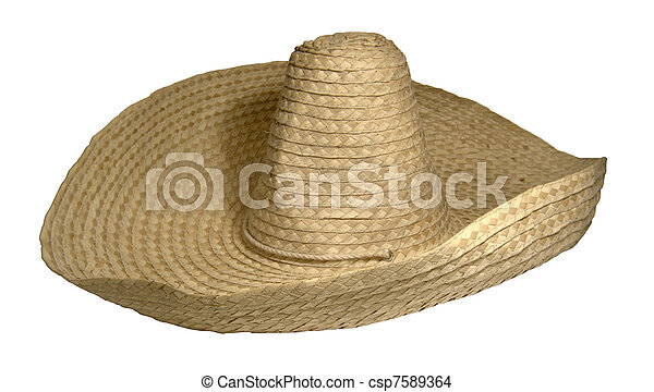 Straw braided sombrero. Studio photography of a sombrero hat ... 80af3b415d27