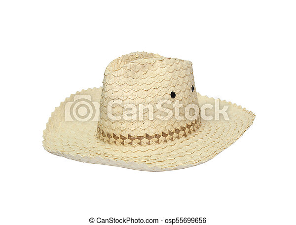 Straw hat isolated on white background. c8b79053036d