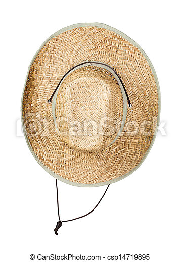 Straw hat, isolated on white - csp14719895