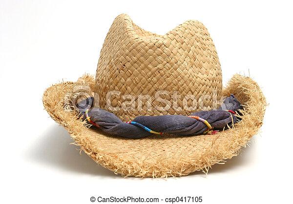 Straw hat - csp0417105