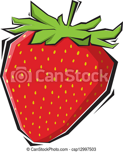 strawberries illustration painting - csp12997503