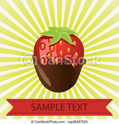Strawberries In Chocolate This Is A Vector Illustration Of A Chocolate Dipped Strawberry Canstock
