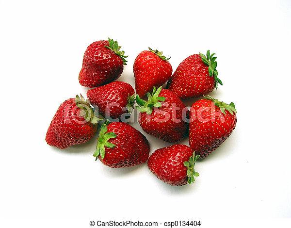 Strawberries On White Background - csp0134404