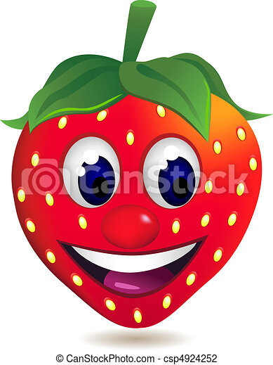 Strawberry cartoon character - csp4924252