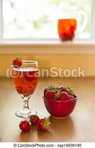 strawberry compote - csp14936140