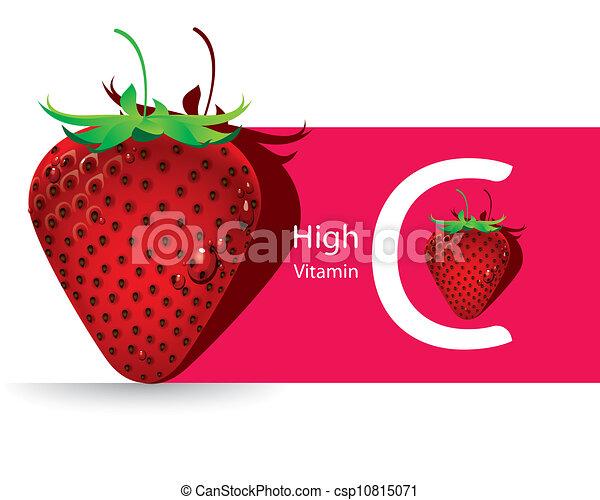 Strawberry high vitamin C vector - csp10815071