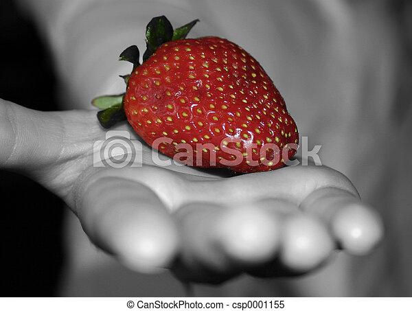 Strawberry in Hand - csp0001155