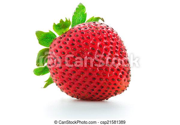 Strawberry on white background - csp21581389