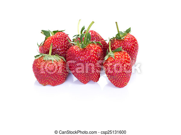 Strawberry on white background - csp25131600