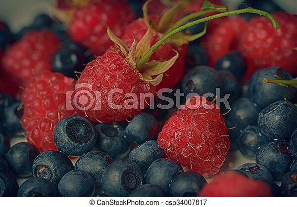 Strawberry, raspberry and blueberry - csp34007817