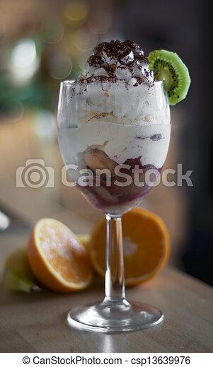 Strawberry tiramisu - csp13639976