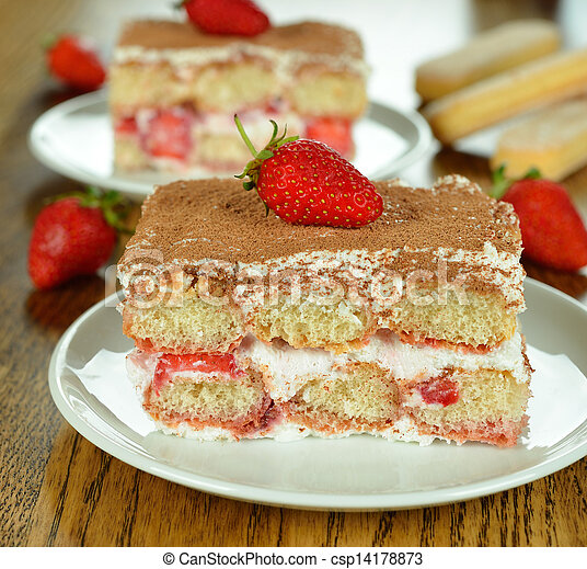 strawberry tiramisu - csp14178873