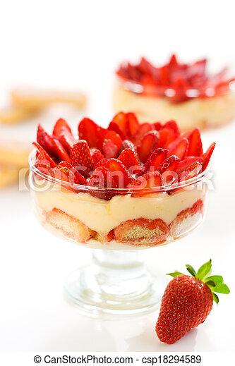 strawberry tiramisu - csp18294589
