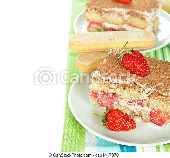 strawberry tiramisu - csp14178701
