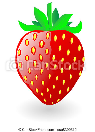 strawberry vector illustration strawberry isolated on vector rh canstockphoto com strawberry vector png strawberry vector background
