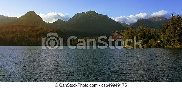 Strbske pleso in the High Tatras - csp49949175