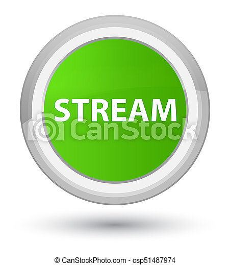 Stream prime soft green round button - csp51487974
