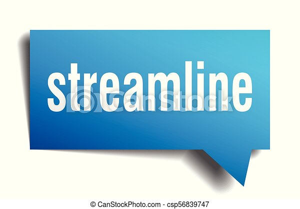 streamline blue 3d speech bubble - csp56839747