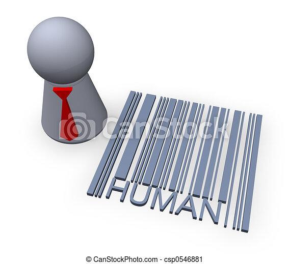 streepjescode, menselijk - csp0546881