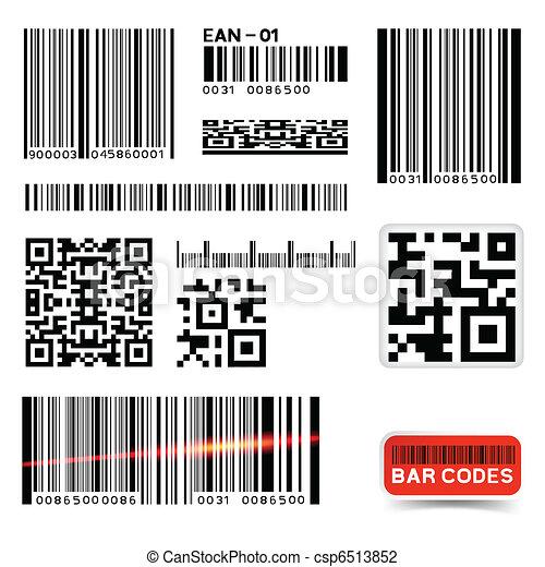 streepjescode, vector, verzameling, etiket - csp6513852