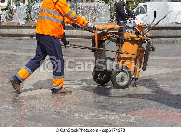 Street Cleaner - csp6174378