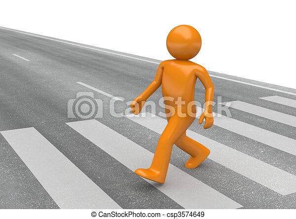 Street collection - Pedestrian crossing - csp3574649