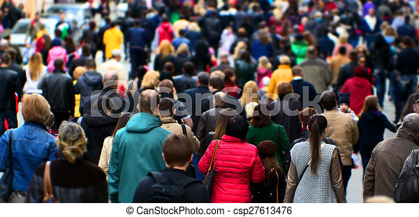Street crowd - csp27613476