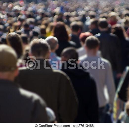 Street crowd - csp27613466