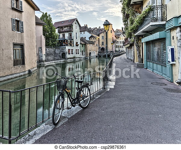 Street in Annecy old city, France, HDR - csp29876361
