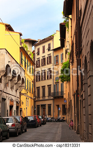 Street in Florence, Italy - csp18313331