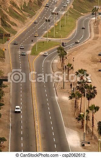 Street in Lima, Peru - csp2062612