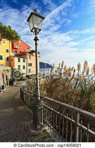 street in Sori, Italy - csp14059021